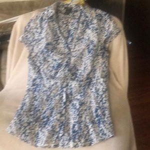 Ann Taylor Blue  Short sleeve shirt